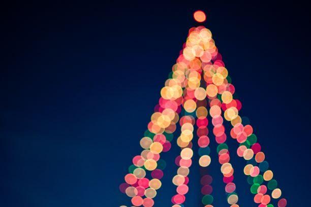 blurred xmas tree